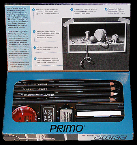 Primo drawing kit open
