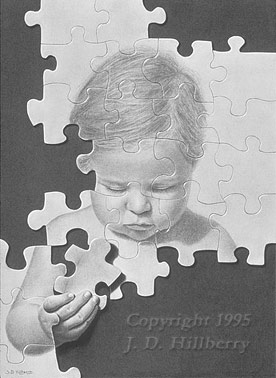 Quot Putting It Together Quot Charcoal And Pencil Drawing By Jd
