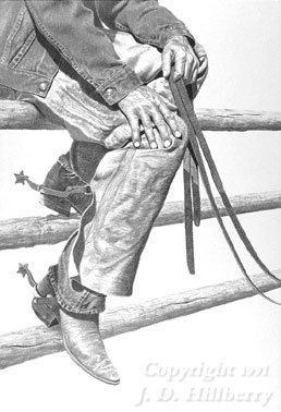 """Riding the Fence"" - charcoal and pencil drawing by JD ..."