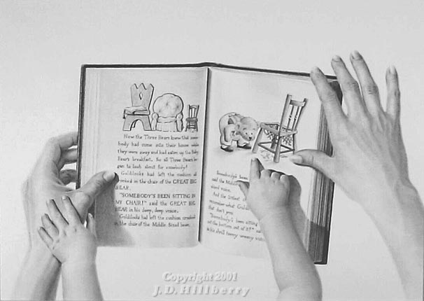 """Story Time"" Pencil Drawing by J. D. Hillberry"